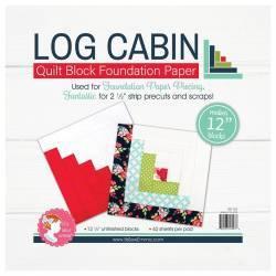 Log Cabin da 12 pollici - Blocco Quilt per Foundation Paper Piecing