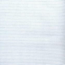 Tessuto Stampato Fondo Bianco con Righine Azzurre, h145