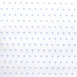 Tessuto Stampato Fondo Bianco con piccole Stelle Azzurre, h150