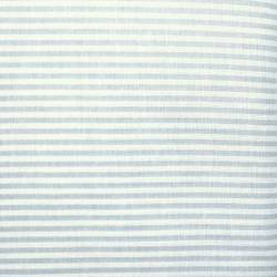 Tessuto Sostenuto Tinto in Filo a Righine Azzurro Polvere e Bianche, h160