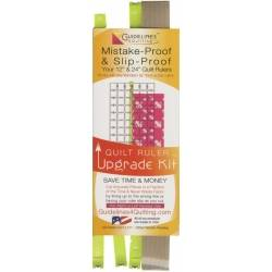 "Quilt Ruler Upgrade Kit - Guide per Righelli da 12"" e 24"" + 6 Strisce Aggrappanti"