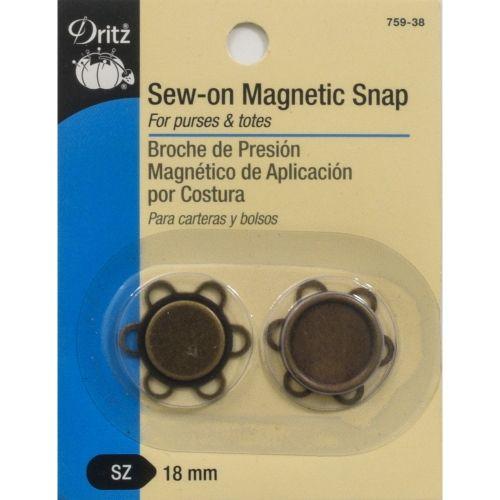 Bottone Magnetico da Cucire da 18 mm, Sew-On Magnetic Snap