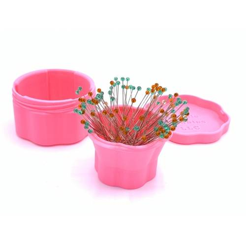 Magnetic Pin Cup, Scatolina Magnetica per Spilli fino a 53 mm - Rosa