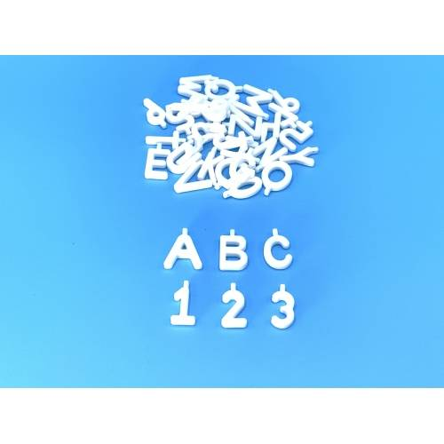 Pinnable Quilt Block Markers - Lettere e Numeri Segna Blocchi Patchwork - Bianco
