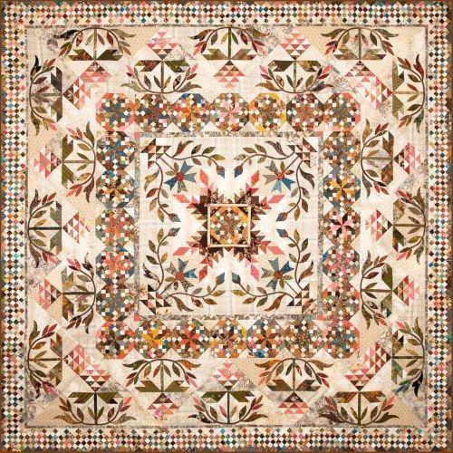 Laundry Basket Quilts, Common Bride - Cartamodello Quilt 86 x 86 pollici