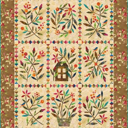 Laundry Basket Quilts, Home Sweet Home - Cartamodello Quilt 64.5 x 82.5 pollici