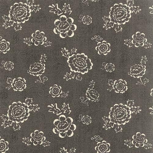 Moda Fabrics Black Tie Affair, Tessuto Nero con Fiori