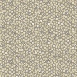 Henry Glass, Tealicious by Anni Downs - Tessuto Grigio con piccole Margherite - 110cm