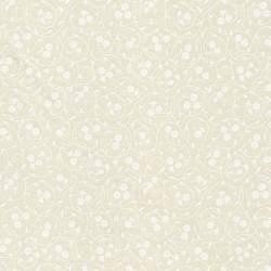 Basic Palette, Tessuto Crema con Fiori Bianchi