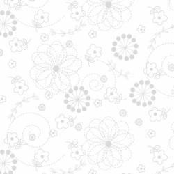 Maywood Studio - Basics White by Kimberbell - White on White Doodles