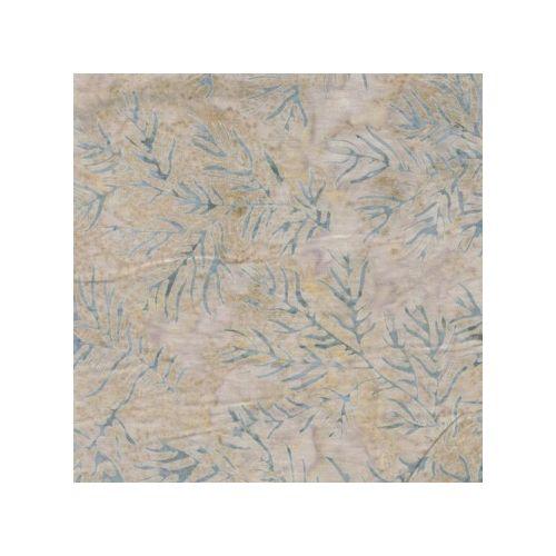 Moda Fabrics Snowbird Batiks, Tessuto Batik Crema con Foglie