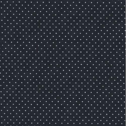 Moda Fabrics Essential Dots - Tessuto Nero Sfumato a Pois