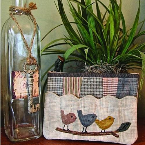 Three Little Birds Pouch by Yoko Saito