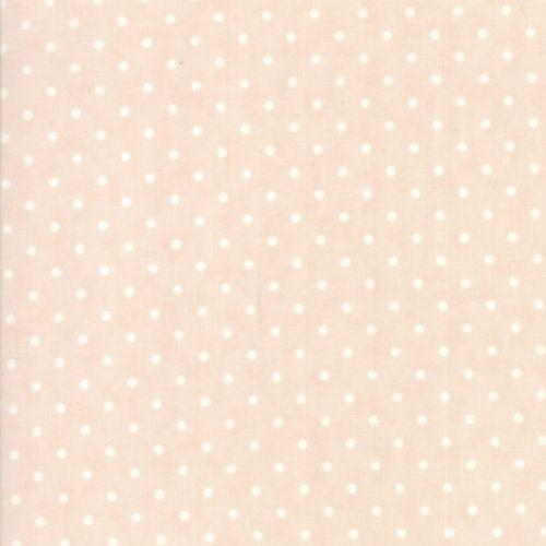 Moda Fabrics Poetry Prints, Tessuto Rosa a Pois