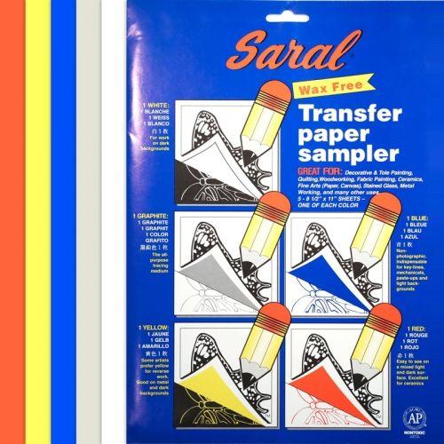 Carta Copiativa Senza Cera - 5 Fogli A4 in vari colori