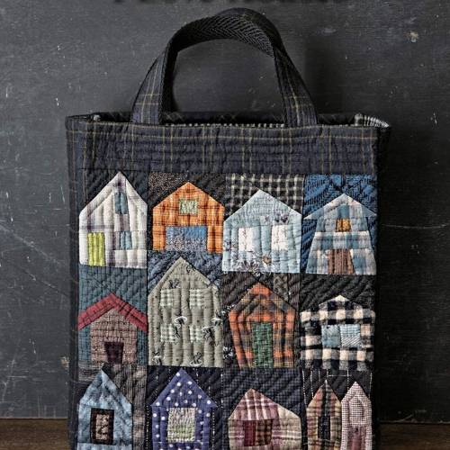 I Love Houses - Kit per realizzare la borsa con le casette - Village Tote
