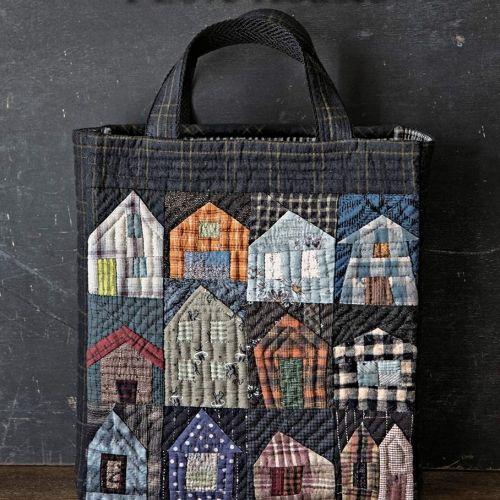 I Love Houses - Kit per realizzare la borsa con le casette - Village Tote