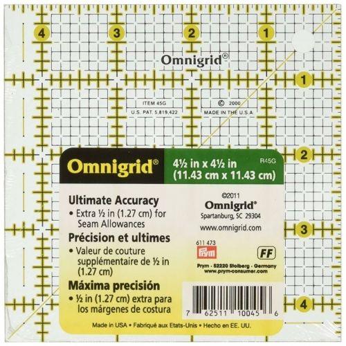 Omnigrid, Squadretta 4½x4½ pollici