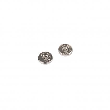 Bohin, Bottoni Magnetici Nichelati da Cucire - 2 da 18 cm