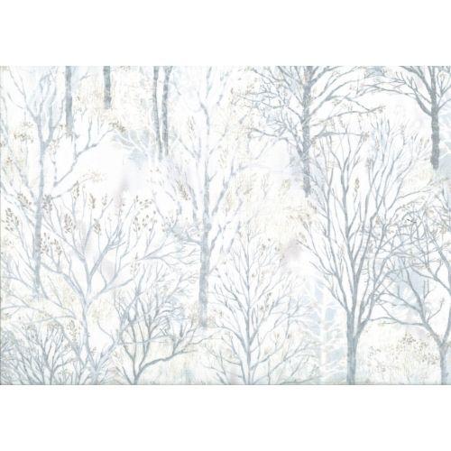 Lecien Centenary 25th by Yoko Saito, tessuto bianco con alberi