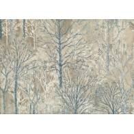 Lecien Centenary Collection 25th by Yoko Saito, tessuto marrone con alberi