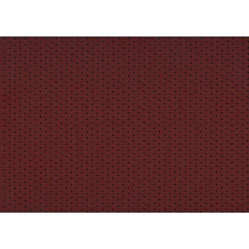 Lecien Centenary Collection 25th, tessuto fondo rosso con pois scuri