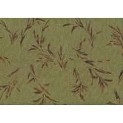 Lecien Centenary 25th by Yoko Saito, tessuto verde salvia con fili d'erba