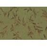 Lecien Centenary Collection 25th, tessuto fondo verde con foglie marroni