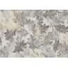 Lecien Centenary Collection 25th, tessuto fondo beige con foglie marroni e verdi