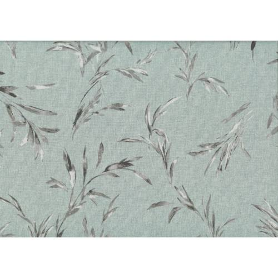 Lecien Centenary 25th by Yoko Saito, tessuto azzurro polvere con fili d'erba