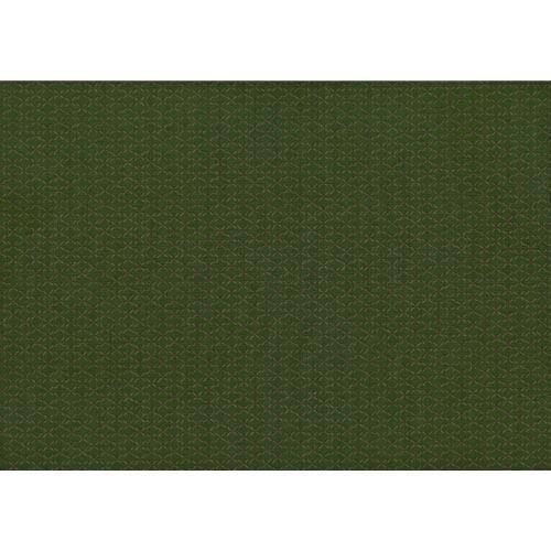 Lecien Centenary Collection 25th, tessuto fondo verde con pois marroni