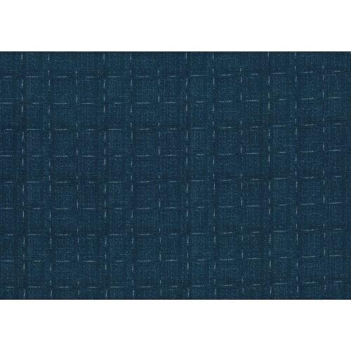 Lecien Centenary 25th by Yoko Saito, tessuto blu con linee