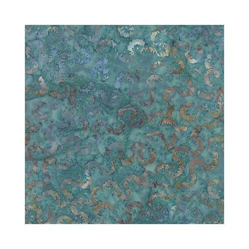 Moda Fabrics Blue Barn Batiks, Tessuto Batik Azzurro Crepuscolo Dorato