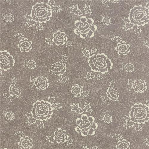 Moda Fabrics Black Tie Affair, Tessuto Grigio con Fiori Chiari