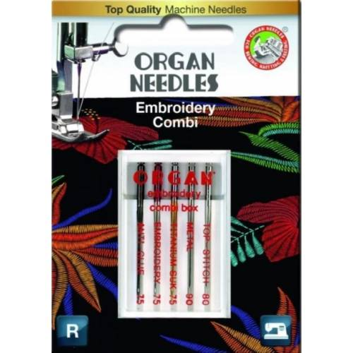 Aghi 130/705H Embroidery Combi, Combination Pack da 5 Aghi