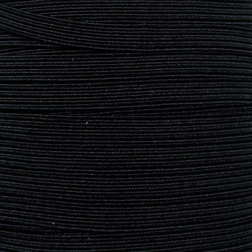 Nastro Elastico Piatto da 5 mm - Nero
