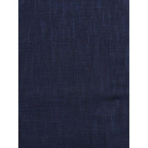 Tessuto di Cotone Sostenuto per Sashiko, Blu Note Tinta Unita