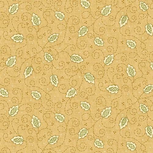 Henry Glass Butter Churn Basics by Kim Diehl, Tessuto Beige con Viticci