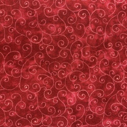 Moda Fabrics Marble Swirls, Tessuto Rosso Sfumato con Ghirigori