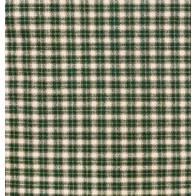 Tessuto Giapponese Tinto in Filo, Quadrettato Verde Beige e Bianco