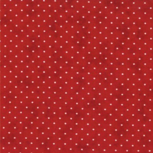 Moda Fabrics Essential Dots - Tessuto Rosso Sfumato a Pois