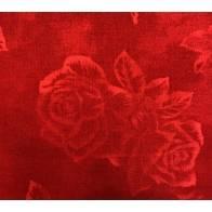 Stof, Tessuto Fondo Rosso con Rose Rosse