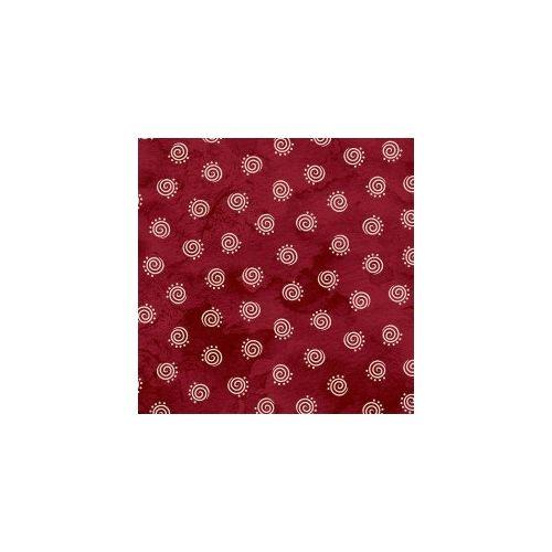 Maywood Studio, In Stitches, Tessuto Rosso con Disegno Bianco