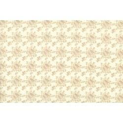 Lecien Madame Fleur by Jera Brandvig, tessuto bianco panna con bouquet di rose e pois dorati
