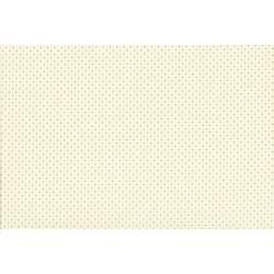 Lecien Madame Fleur by Jera Brandvig, tessuto bianco panna con fiori astratti e pois dorati