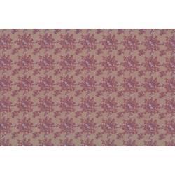 Lecien Madame Fleur by Jera Brandvig, tessuto tortora con bouquet di rose e pois dorati