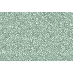 Lecien Madame Fleur by Jera Brandvig, tessuto verde acqua con campo di fiori