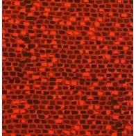 Stof, Tessuto Fondo Rosso con Mattoncini