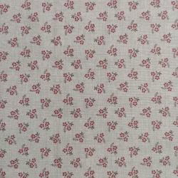 Moda Fabrics Jardin de Versailles - Tessuto Fondo Grigio con Fiore Rosso