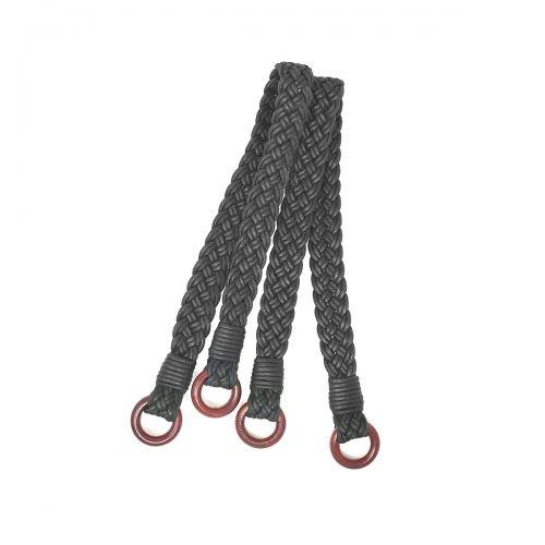 Manici Lunghi per borse in Corda Nera - 61 cm, 2 Manici